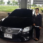 Lady driver Pattaya with Toyota Camry car