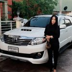 Lady drive and car Pattaya taxi